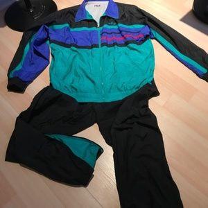 Vintage Men's Fila Track Suit